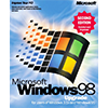 Microsoft Windows 98 retail packaging